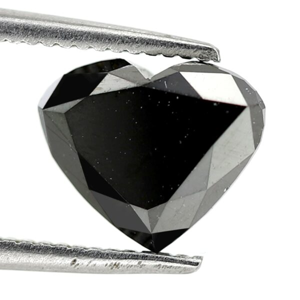 Black diamond heart shape