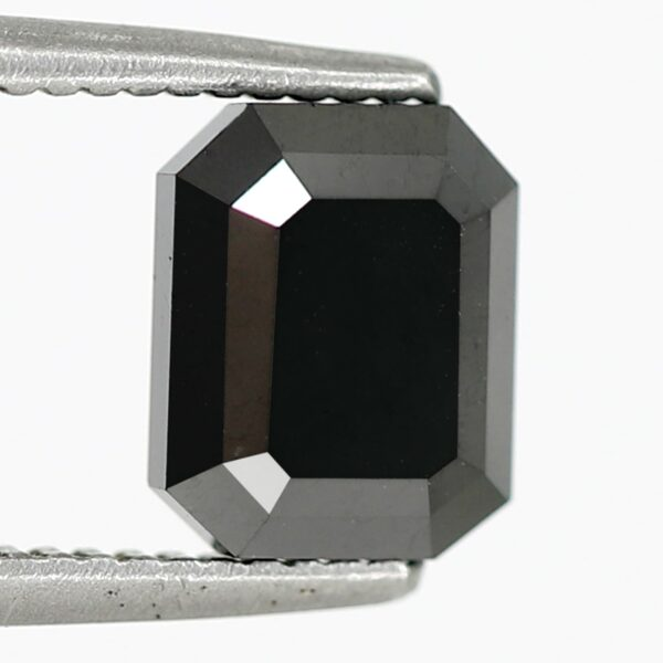 black diamond emerald cut shape