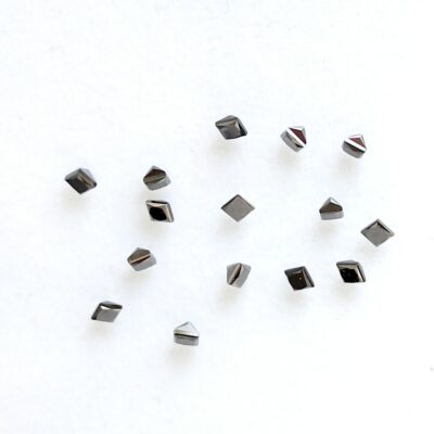 Princess cut black diamond melee
