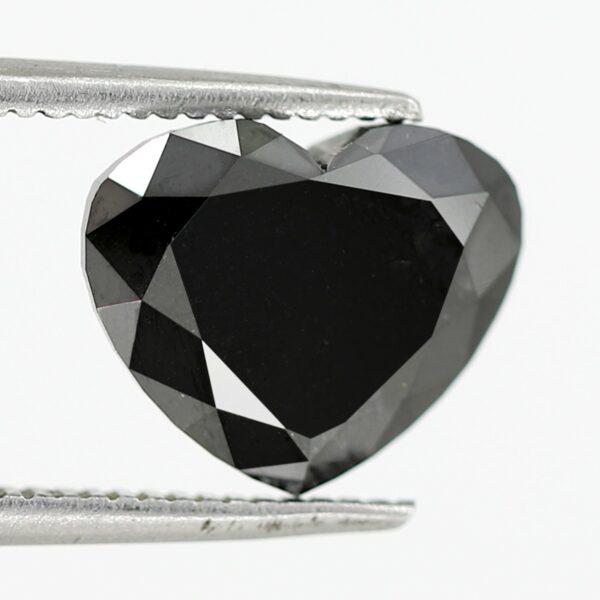 Heart cut black diamond