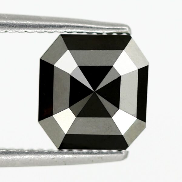 Square emerald black diamonds