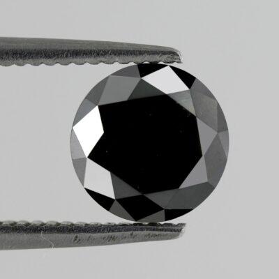 brilliant cut black diamond