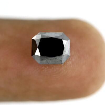 rectangle cut black diamond