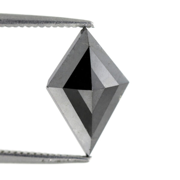 Kite black diamond for engagement ring