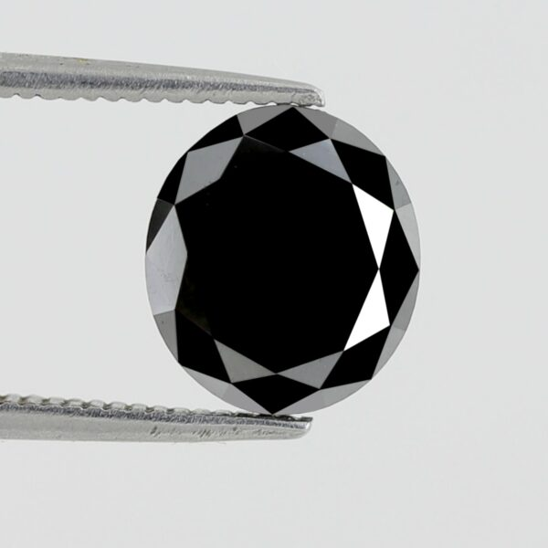 Oval Shape Black Diamond