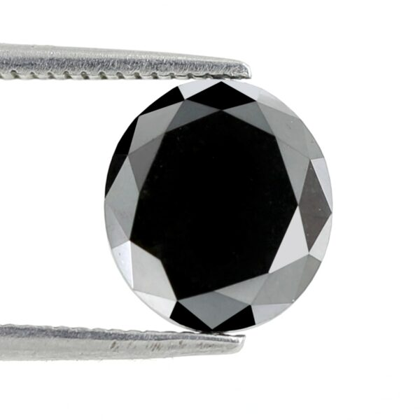 Beautiful Oval Shape Black Diamond