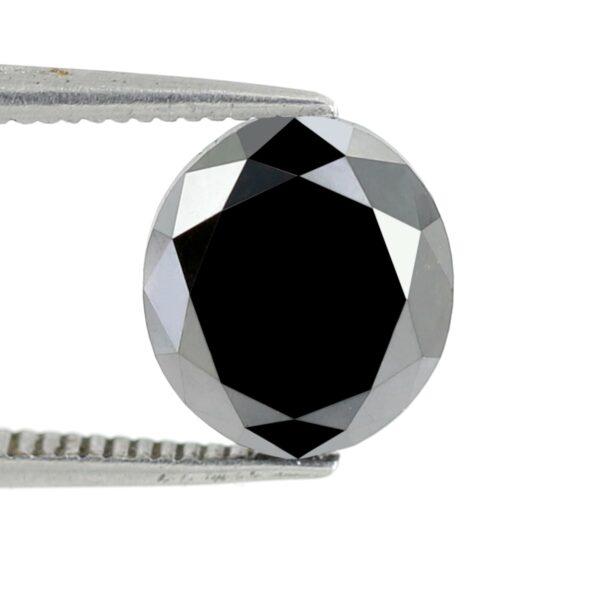 3 Carats Oval Shape Black Diamond