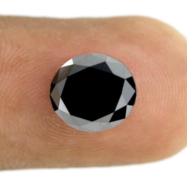 Oval Shape Black Diamond On Finger