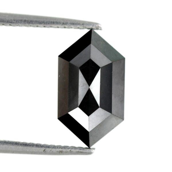 Elongated hexagon black diamond
