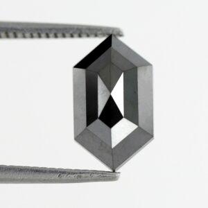 Elongated hexagon black diamond online