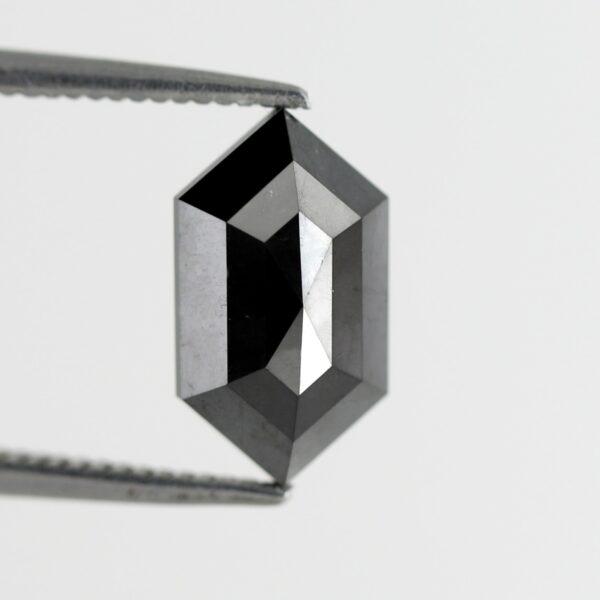 Buy Elongated hexagon black diamond