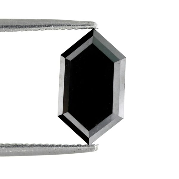 Elongated hexagon black diamond back side