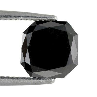Asscher Shape Black Diamond