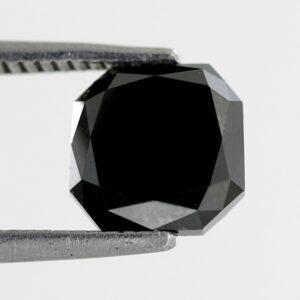 Asscher Shape Black Diamond For Sale