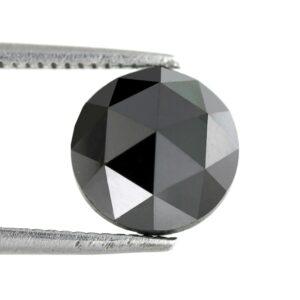 Black diamond rose cut