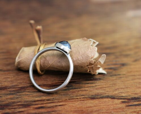 flower rose cut black diamond ring