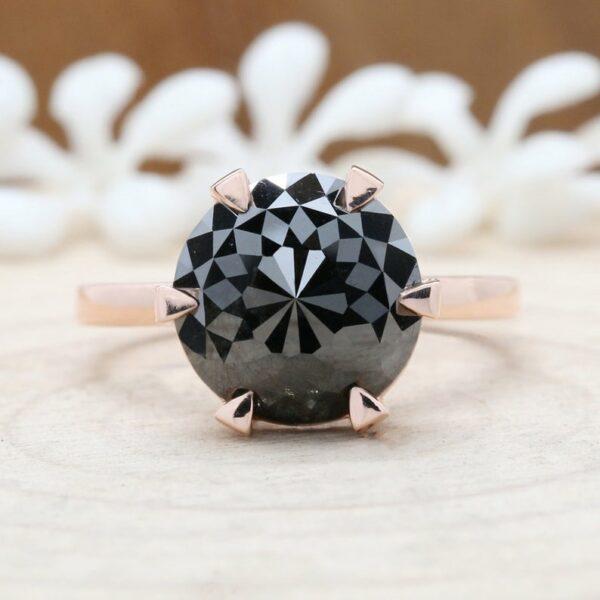 3 carat black diamond ring