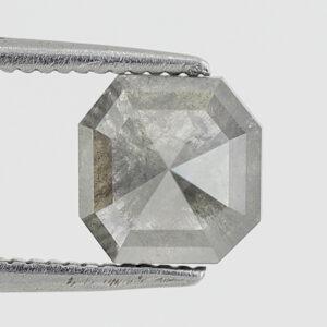 Asscher Cut Salt and Pepper Diamond